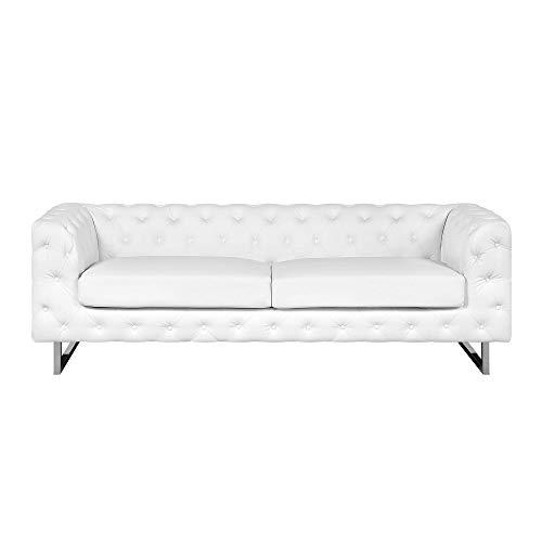 Beliani Klassisches 3er Sofa Kunstleder...