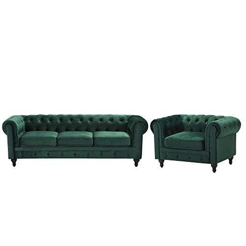 Beliani Wohnzimmer Set Sofa Sessel...