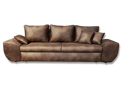 lifestyle4living Big Sofa in braun mit...