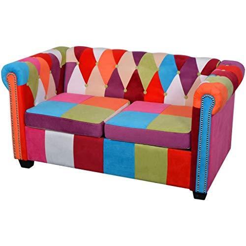 vidaXL Chesterfield Sofa 2-Sitzer...