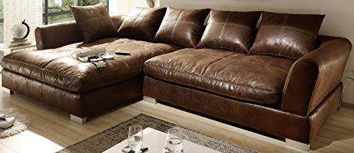 Reboz Big Sofa Ecksofa Vintage Braun...