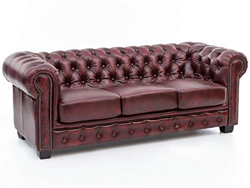 Woodkings® Chesterfield Sofa 3-Sitzer...
