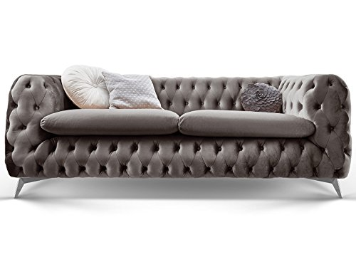 Chesterfield Sofa Couch Stoff Samt 3...