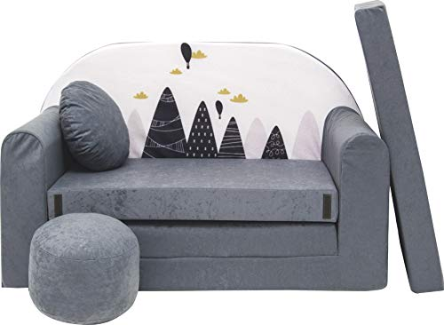 Pro Cosmo Kindersofa Bettfunktion 3in1...