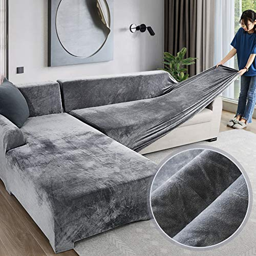 Velvet Plüsch Schonbezug Sofa, Stretch...