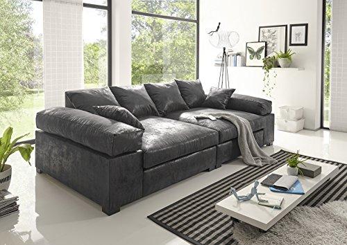 Reboz Big Sofa Vintage schwarz Hellbraun...