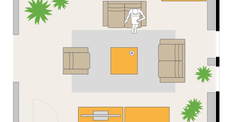 wie stelle ich mein sofa diese beispiele helfen dir. Black Bedroom Furniture Sets. Home Design Ideas
