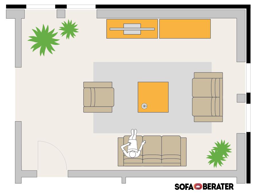 So Platzierst Du Dein Sofa 3 Sitzer 2 Und