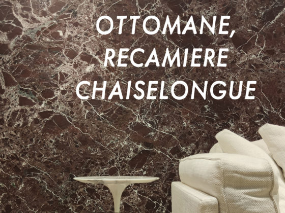 Ottomane Recamiere und Chaiselongue